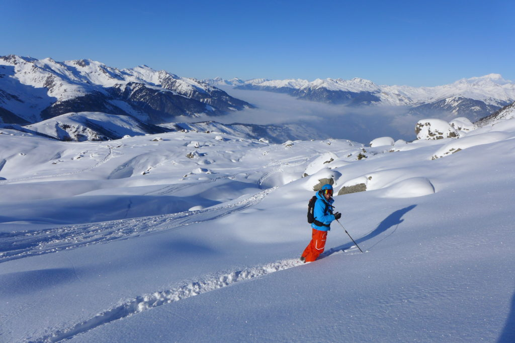 offpiste skiing meribel