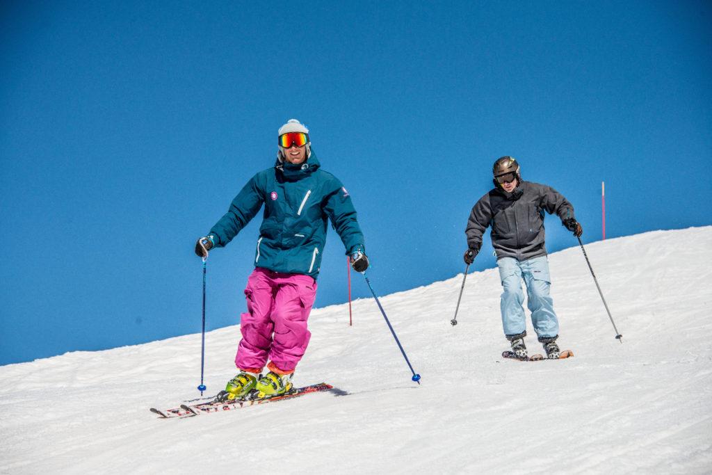 private ski lessons, skiing meribel, skiing courchevel, skiing la tania, ski school