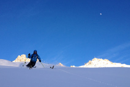 ski touring tips, ski touring lessons, ski touring meribel